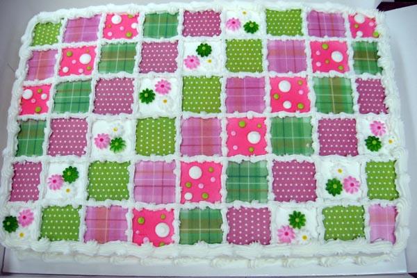 Baby Quilt Sheet Cake